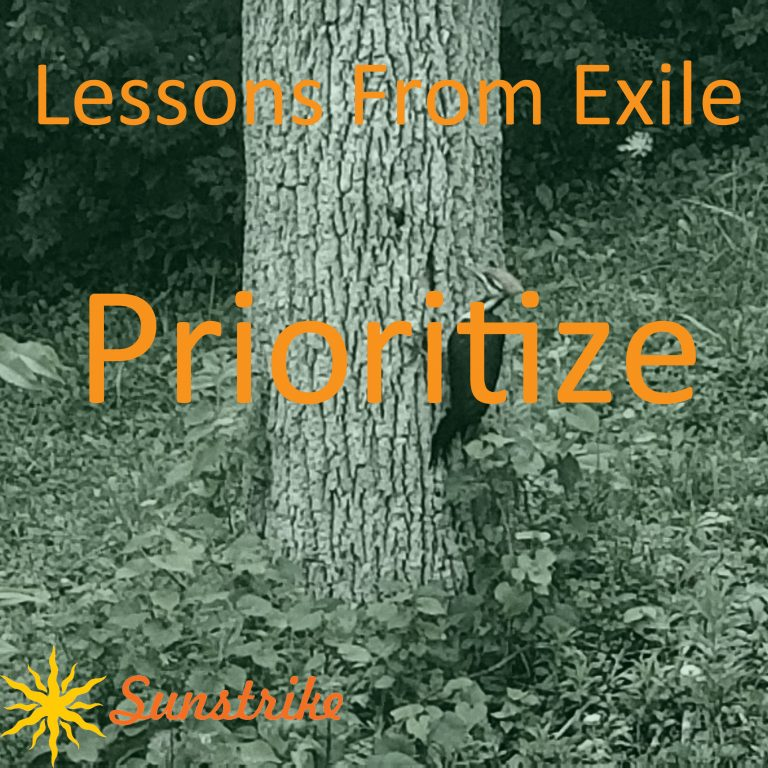 Lessons from Exile #24: Prioritize