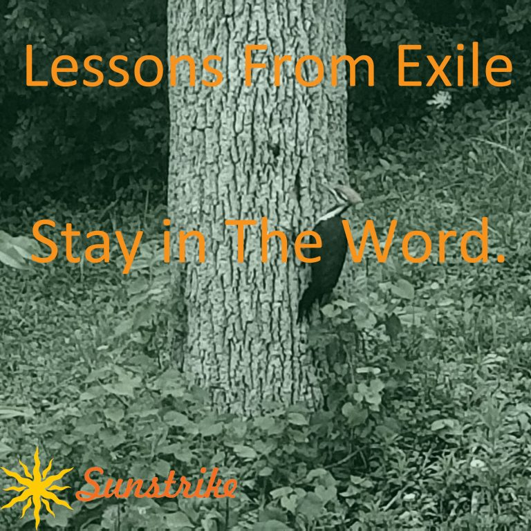 Lessons from Exile #27: Stay In The Word