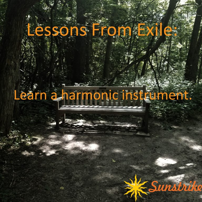 Lessons from Exile #4: Learn a harmonic instrument.