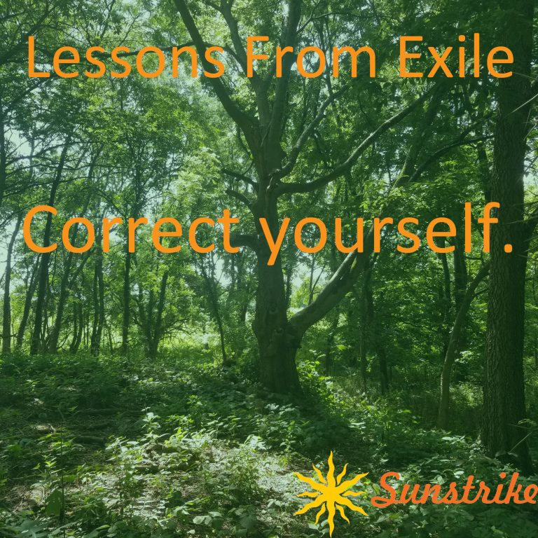 Lessons from Exile #30: Correct Yourself