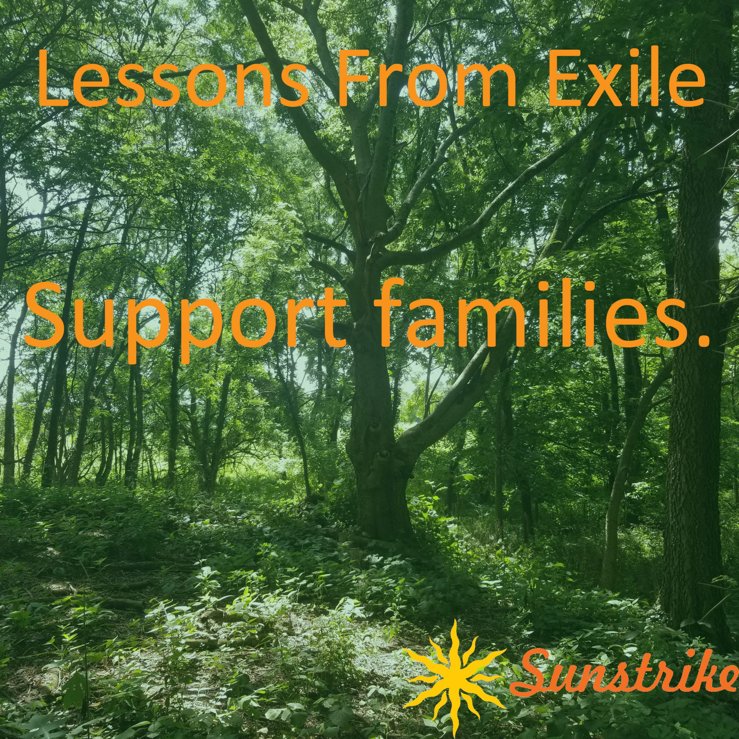 Lessons from Exile #31: Support Families