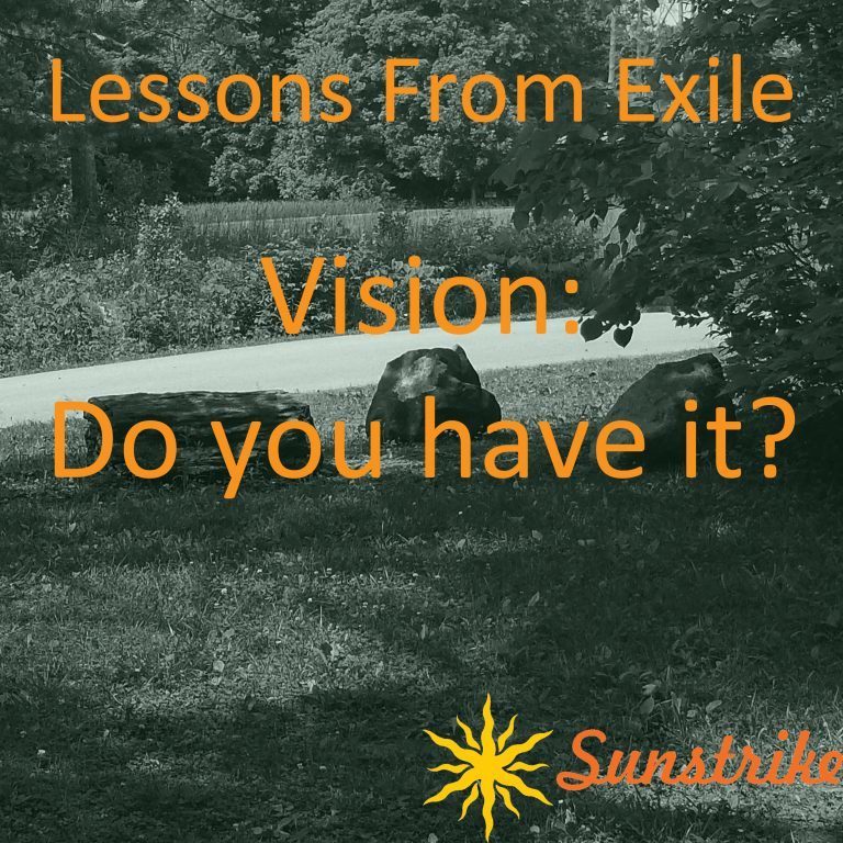 Lessons from Exile #56: Vision: Do You Have It?